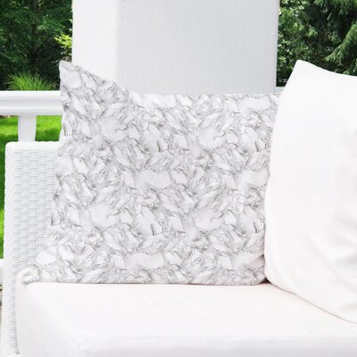 Dalessio Contemporary Marble Outdoor Throw Pillow Size: 26 H x 26 W