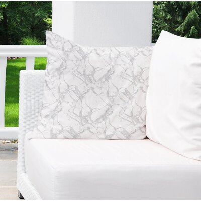 Dalessio Square Marble Outdoor Throw Pillow Size: 26 H x 26 W