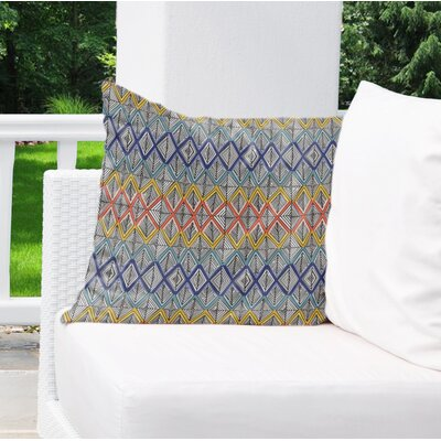 Fenster Geometric Outdoor Throw Pillow Size: 18 x 18
