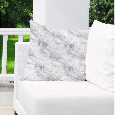 Dalessio Marble Outdoor Throw Pillow Size: 26 H x 26 W