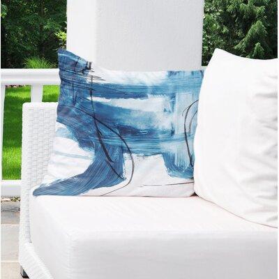 Kingston Blue Indoor/Outdoor Throw Pillow Set Size: 18 H x 18 W x 8 D