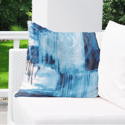 Kingston Blue Set Three Indoor/Outdoor Pillow Size: 18 H x 18 W x 8 D