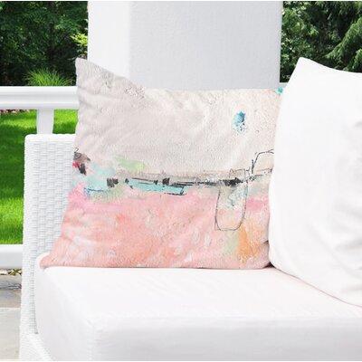 Lyka Pink Indoor/Outdoor Throw Pillow Size: 26 H x 26 W x 8 D