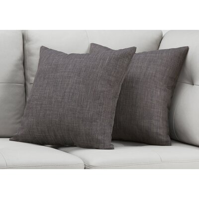 Cotter Linen Patterned Throw Pillow Color: Dark Gray