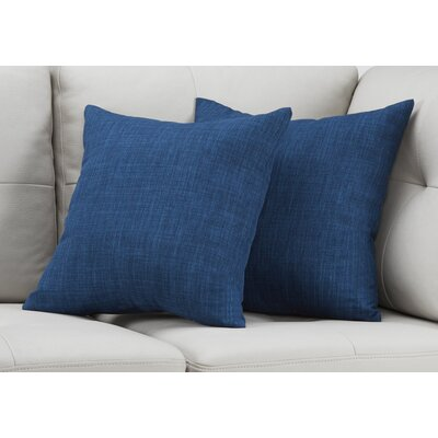 Cotter Linen Patterned Throw Pillow Color: Blue