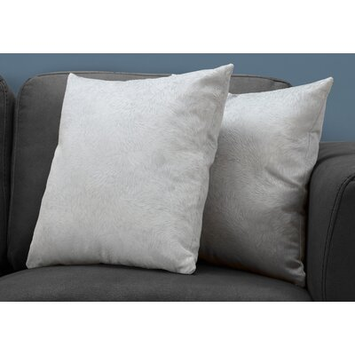 Cottrill Throw Pillow Color: Light Gray