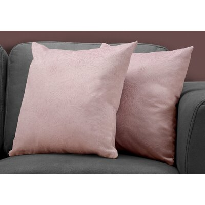 Cottrill Throw Pillow Color: Pink