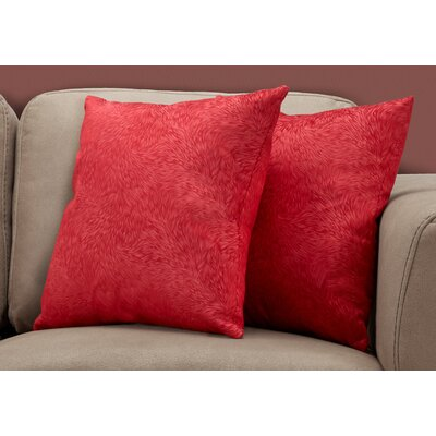 Cottrill Throw Pillow Color: Red