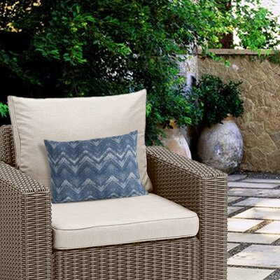 Marshall Geometric Outdoor Lumbar Pillow