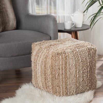 Dorine Pouf Ottoman Upholstery: Beige