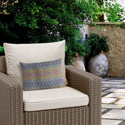 Fenster Geometric Outdoor Lumbar Pillow