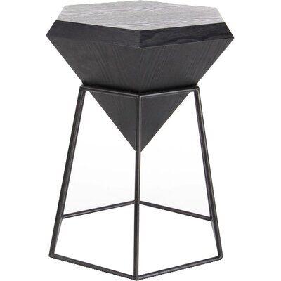 Davidson Diamond Shaped End Table Color: Black