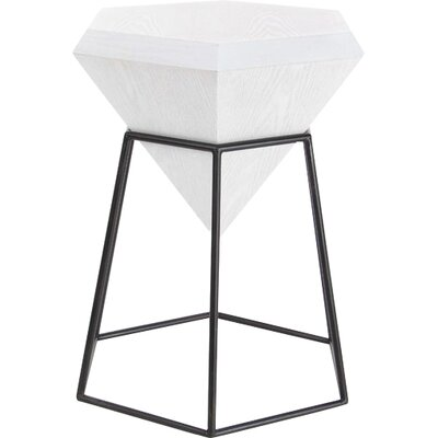 Davidson Diamond Shaped End Table Color: White