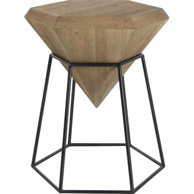 Davidson Diamond Shaped End Table Color: Brown