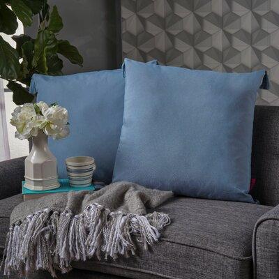 Crampton Tassel Throw Pillow Color: Light Blue