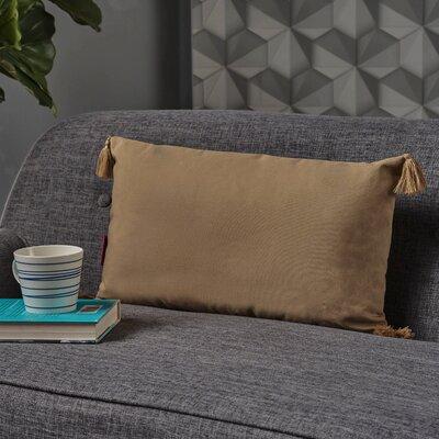 Crampton Tassel Rectangular Lumbar Pillow Color: Flax