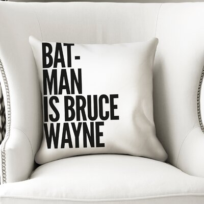 Leandre Batman Throw Pillow Size: 18 x 18