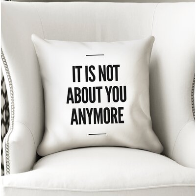 Rosenda Anymore Throw Pillow Size: 18 x 18