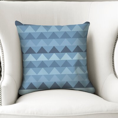 Gavin Throw Pillow Size: 18 H x 18 W x 5 D, Color: Blue