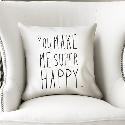 Inspired Indoor/Outdoor Throw Pillow Size: 24 H x 24 W x 8 D