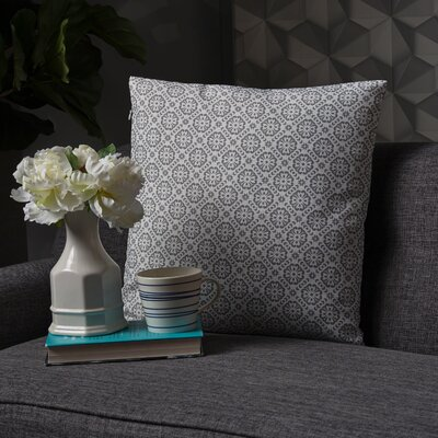 Crandell Floral Throw Pillow Color: Dark Gray