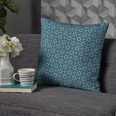 Crandell Floral Throw Pillow Color: Blue/Green