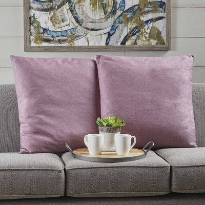 Duhart Fabric Square Throw Pillow Color: Light Lavender