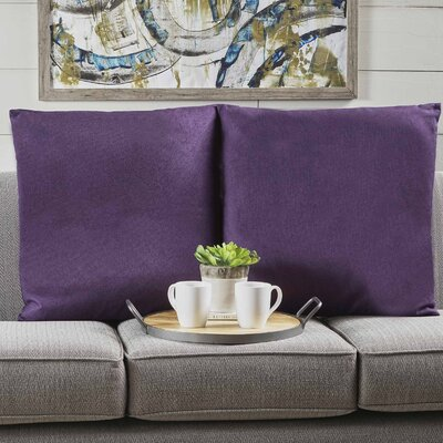 Barco Fabric Square Throw Pillow Color: Plum