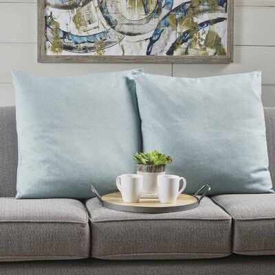 Duhart Fabric Square Throw Pillow Color: Light Blue