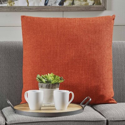 Barco Fabric Throw Pillow Color: Muted Orange