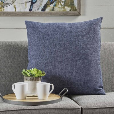 Barco Fabric Throw Pillow Color: Dark Blue