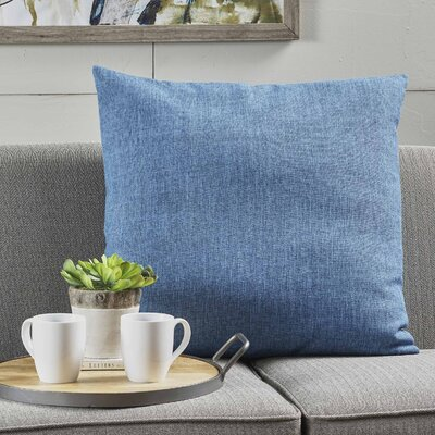 Barco Fabric Throw Pillow Color: Muted Blue