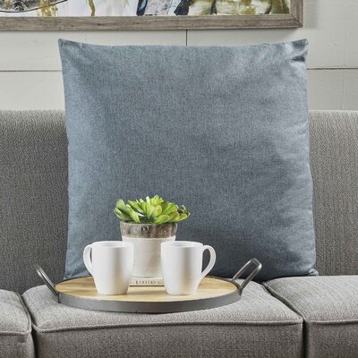 Duhart Fabric Throw Pillow Color: Blue Gray