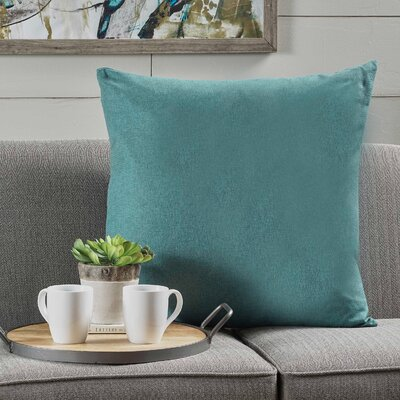 Barco Fabric Throw Pillow Color: Dark Teal