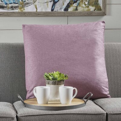 Barco Fabric Throw Pillow Color: Light Lavender