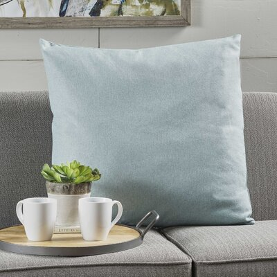 Duhart Fabric Throw Pillow Color: Light Blue