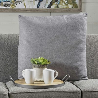 Barco Fabric Throw Pillow Color: Light Gray