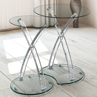 Jeffrey Contemporary 2 Piece Nesting Tables