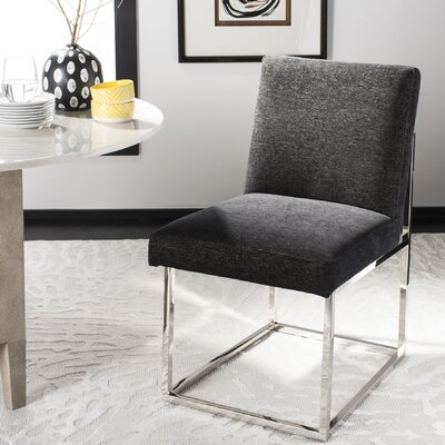 Fuentes Upholstered Dining Chair Upholstery: Black