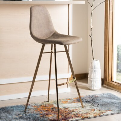 Fromm Bar Stool Color: Brown