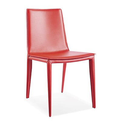 Vicenta Upholstered Dining Chair (Set of 2) Upholstery Color: Red