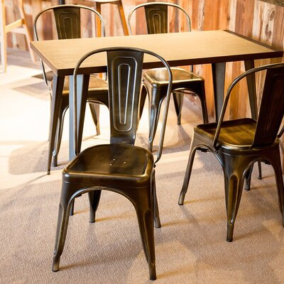 Gaige Dining Chair Color: Antique Tin Black