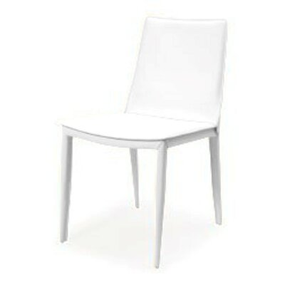 Vicenta Upholstered Dining Chair (Set of 2) Upholstery Color: White