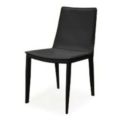 Vicenta Upholstered Dining Chair (Set of 2) Upholstery Color: Black