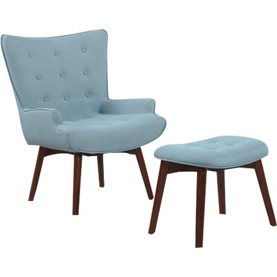 Burgin Armchair and Ottoman Upholstery: Capri