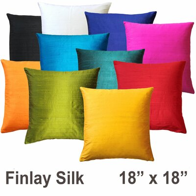 Finlay Silk Throw Pillow Size: 18 H x 18 W x 5 D