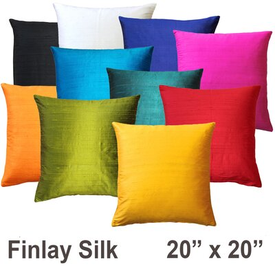 Finlay Silk Throw Pillow Size: 20 H x 20 W x 6 D