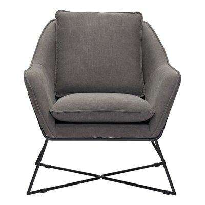Zane Armchair Upholstery: Fabric - Gray