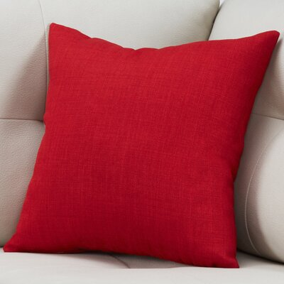 Cotter Linen Patterned Square Throw Pillow Color: Red