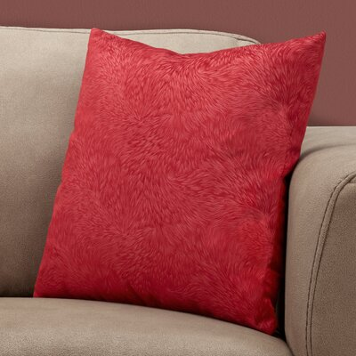 Cottrill Square Throw Pillow Color: Red